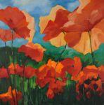 W oczekiwaniu na opium, olej, płótno, 110x110 2016