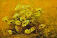 Żółte kwiaty, olej, płótno, 60x90, 2015